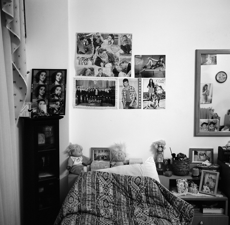 The bedroom of a young Libyan girl.