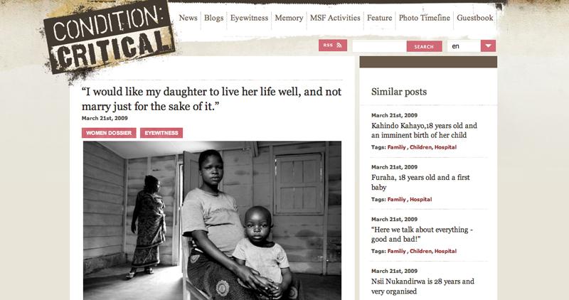 MSF Condition Critical
