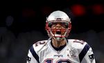 New England Patriots quarterback Tom Brady at NFL Super Bowl LI in Houston