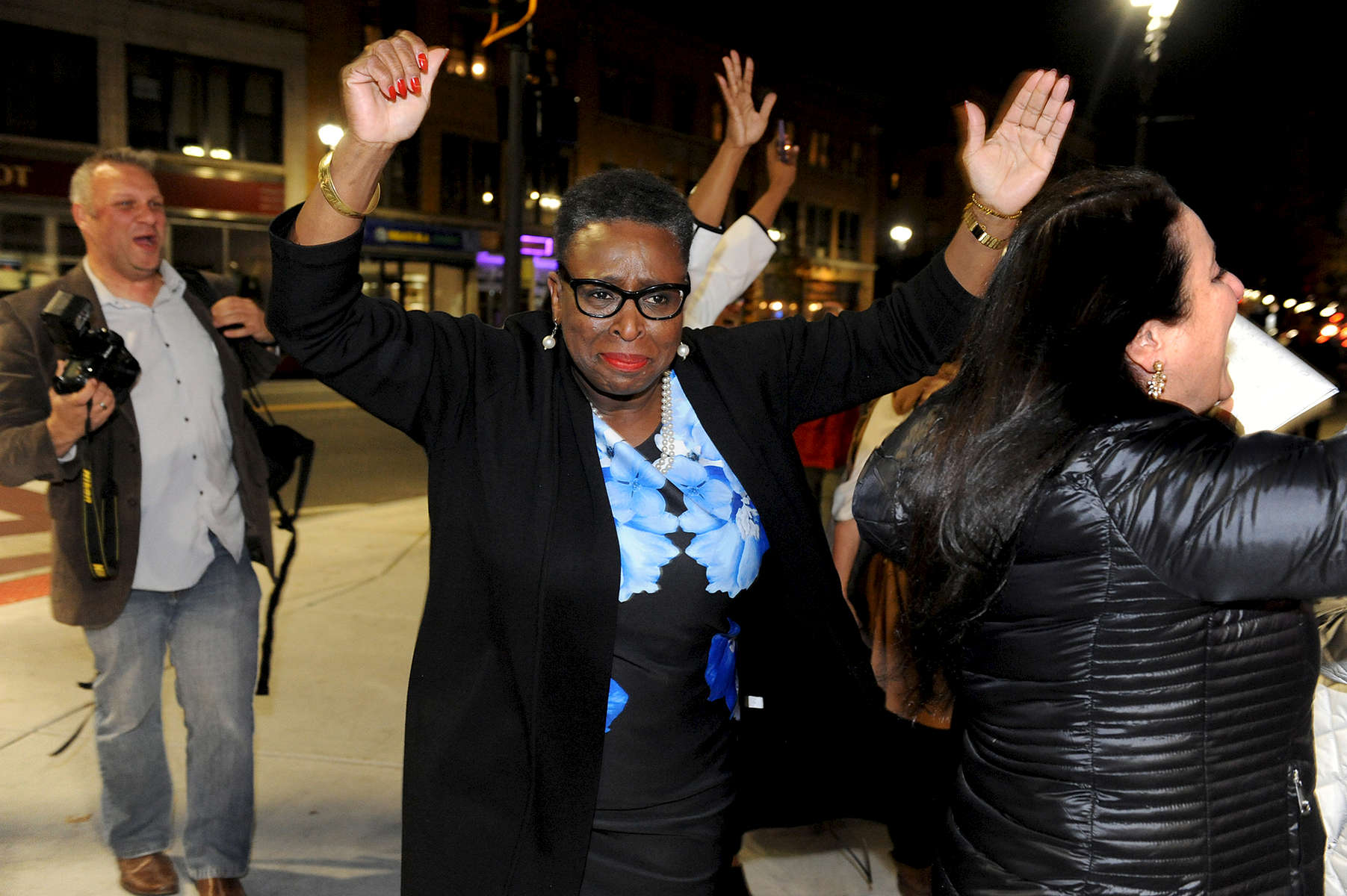 11/7/17  FRAMINGHAM-- Newly elected Framingham Mayor Yvonne Spicer walks to the Memorial Building Tuesday night. [Daily News and Wicked Local Staff Photo/Art Illman]