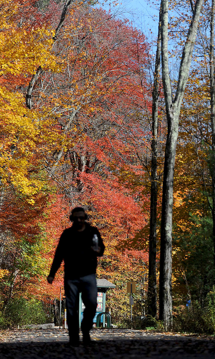 Cesar Arevalo of Marlborough enjoys the Hudson Assabet Rail Trail.Daily News Staff Photo/Art Illman
