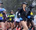 4/16/18-- HOPKINTON--  The 2018 Boston Marathon elite women start off in Hopkinton. [Daily News and Wicked Local Staff Photo/Art Illman]