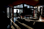 2/11/19-- WAYLAND-- Wayland High School junior Kyle Chen playing piano at home Monday. [Daily News and Wicked Local Staff Photo/Art Illman]\
