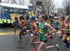4/15/19--HOPKINTON-- The elite women start at the Boston Marathon Monday. [Daily News and Wicked Local Staff Photo/Art Illman]