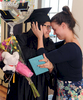 6/16/17--FRAMINGHAM-- SMOC Joan Brack Adult Learning Center High School Equivalency Test graduate and student speaker Jennifer Fernandez-Urrego is embraced by best friend Jennifer DiBenedetto following the graduation Friday.  [Daily News and Wicked Local Staff Photo/Art Illman]