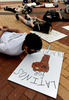 6/3/20-- FRAMINGHAM-- Participants laid down for nine minutes at a Black Lives Matter march and rally  in front of the City Hall steps Wednesday.   [Daily News and Wicked Local Staff Photo/Art Illman]