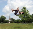 7/9/20-- FRAMINGHAM-- Ramon Martinez, of Framingham,  practices breakdancing on the Framingham Centre Village Green Thursday. [Daily News and Wicked Local Staff Photo/Art Illman]
