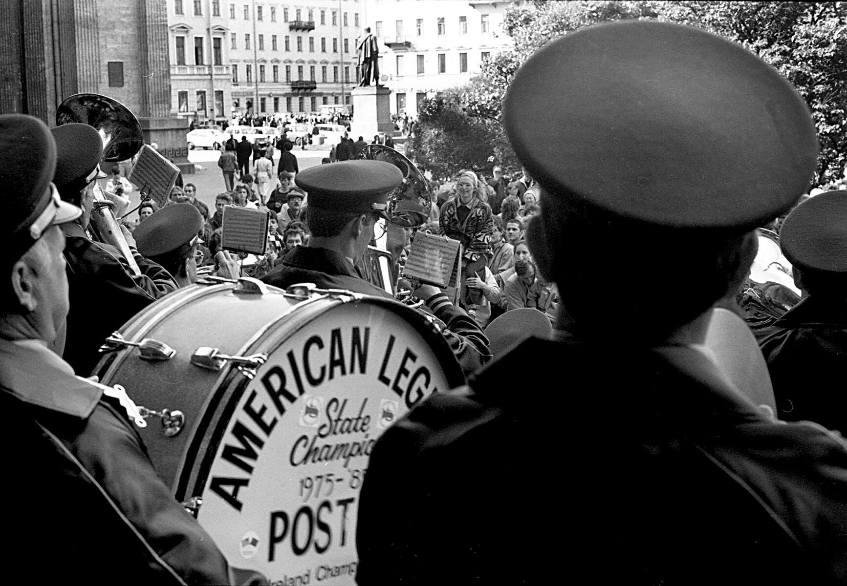 One of the many concerts performed in Moscow by the Waltham American Legion Band in 1990. [Daily News and Wicked Local Staff Photo/Art Illman]