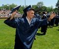 Framingham High School graduate Matheus De Araujo recieves his diploma, June 6, 2021, at Bowditch Field.