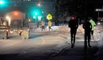 2/12/14-- HOPKINTON-- for scott o storyMembers of the Hopkinton Running Club on their 6 a.m. run despite a temperature of zero degrees Wednesday.Daily News Staff Photo/Art Illman