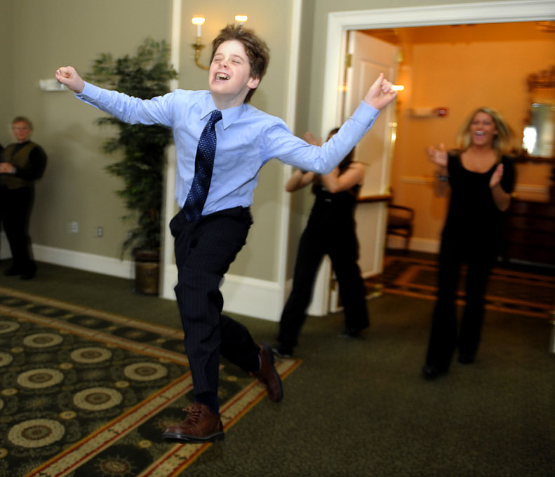 An athletic Bar Mitzvah party entrance at the Charter Oak Country Club.