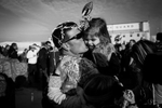 Staff Sgt. Nicholas Province kisses his daughter, Liberty, 3, both of Lincoln, Neb. Wednesday, Dec. 7, 2011 at the Nebraska National Guard Air Base in Lincoln, Neb.