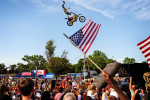 FMX East Motocross rider Chip Bishop of Gainesville, Fla. performs for the audience Saturday, May 15 at the Augusta Common located downtown. The city celebrated its annual Thunder over Augusta, in salute to Armed Forces Day and the men in women in uniform. Thousands came out for food, entertainment and more.