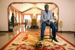 "Opposition leader Rila Odinga who is considered to be the"" peoples leader"" sits for a portrait at his house."