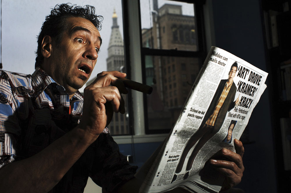 "Jack Luceno is stunned by a recent news article about the character he impersonates, Cosmo Kramer from the hit TV show, ""Seinfeld."" The article describes Michael Richards explosion of anger and racial epithets during a performance at a comedy club in Los Angeles, has greatly effected Luceno's impersonator profession."