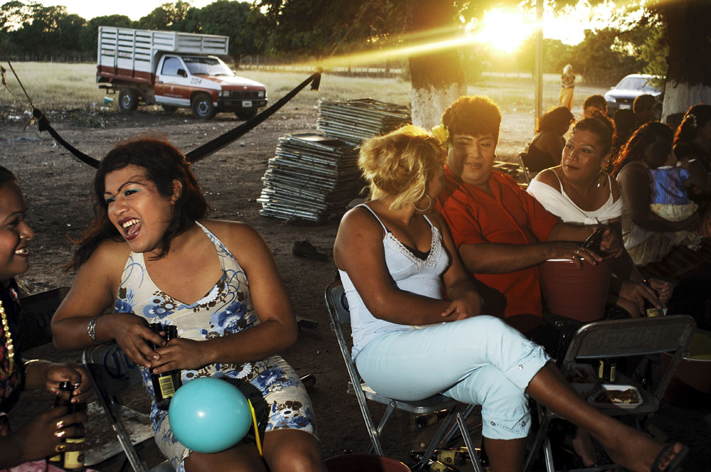 Felicza Jimenez Regalado, 29 years old and her friends attend a fiesta in Juchitan, Mexico.