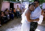 A unique wedding is held as a transvestite and his gay boyfriend get married. The wedding was held at the bride's house and thrown by the bride's family, almost always the muxe would not get married but rather stick by his mom.