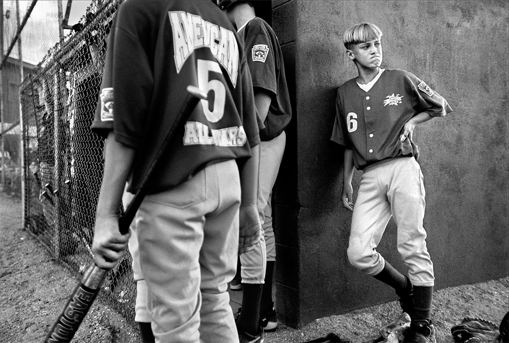 Nate Post, catcher for the Santa Fe American All-Stars, realizes that his team will be out of the regional little league tournament when the game ends.