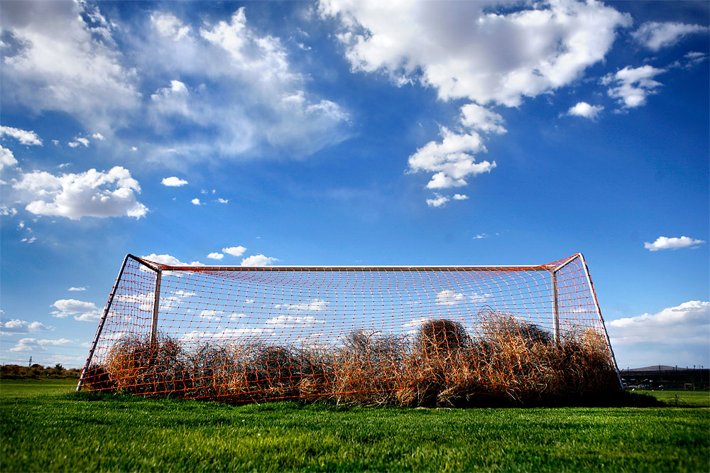 The most remote field at the Bernalillo Soccer Complex is the only one of 23 that went unused during the 2006 New Mexico Cup soccer tournament.