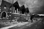 A street in Christchurch, New Zealand after a 6.3 magnitude earthquake rocked the city 22-2-11.  © Sam Mooy/The Australian