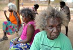 Following the rape of a 10 year old girl the {quote}Aurukun Nine{quote} escaped jail - briefly. On appeal the perpetrators were jailed. In pic, 2 of the rapists (rear) after hearing they will be jailed and family members are stunned by the news. © 2009  Brian Cassey