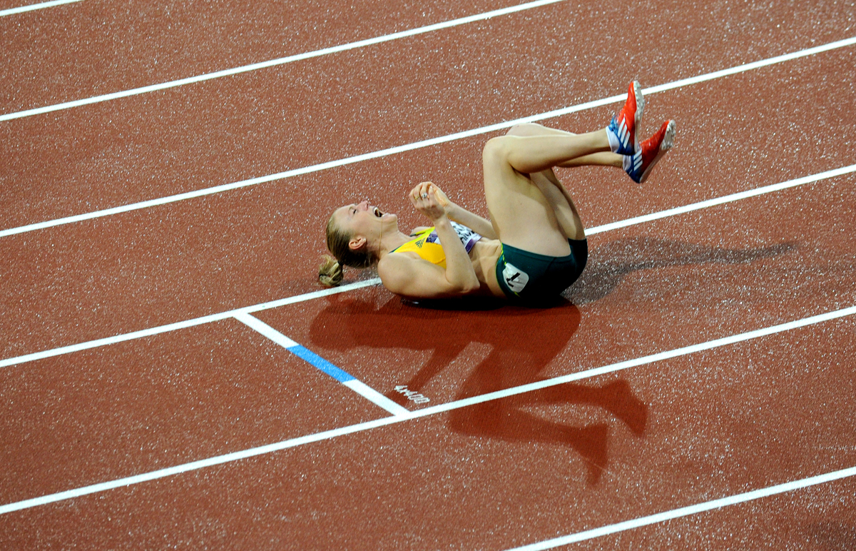 © TRACEY NEARMY - 07.08.2012 - Sally Pearson wins the Olympic 100m hurdles gold medal at the London 2012 Olympics.