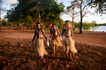 The Injinoo Dance Group on the Injinoo Foreshore, Bamaga, Northern Peninsula Area, Queensland, Australia. ©  Tracey Nearmy AAP