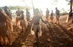 Injinoo Dance Group, Injinoo Foreshore, Bamaga, Northern Peninsula Area, © Tracey Nearmy AAP