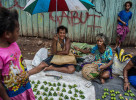 Hanuabada market will be empty of these women selling betel nut by months end.  © Brian Cassey
