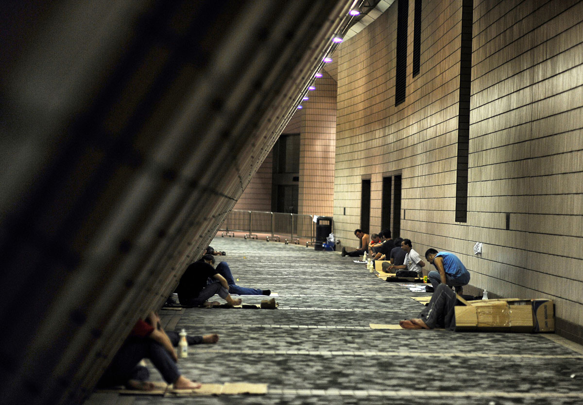 {quote}Homeless{quote} - Hong Kong Cultural Centre  © Brian Cassey