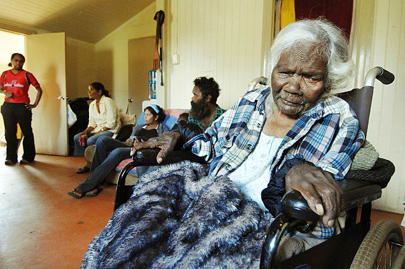 Last of the pygmies, 105 year old Lizzie Woods is blind, wheel chair bound .. and facing eviction from her home of 25 years.  © 2007 Brian Cassey