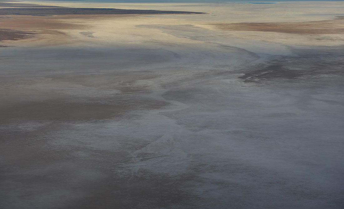 The salt - pan floor of Lake Eyre where water is yet to reach at the southern end of Lake Eyre.© Dean Lewins/AAP Image 2010
