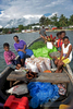 Pacific Islanders arrive by boat at Lorengau - the capital of Manus Province PNG - to sell their produce at market. © Brian Cassey