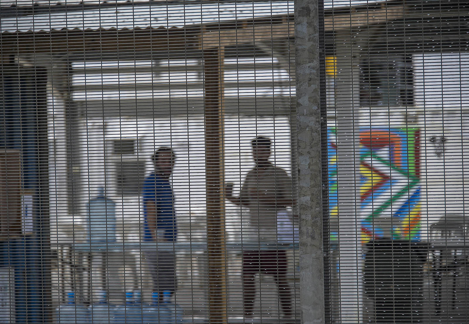 Detainess inside Australia's Lombrum Manus Island asylum seeker detention centre. © Brian Cassey.