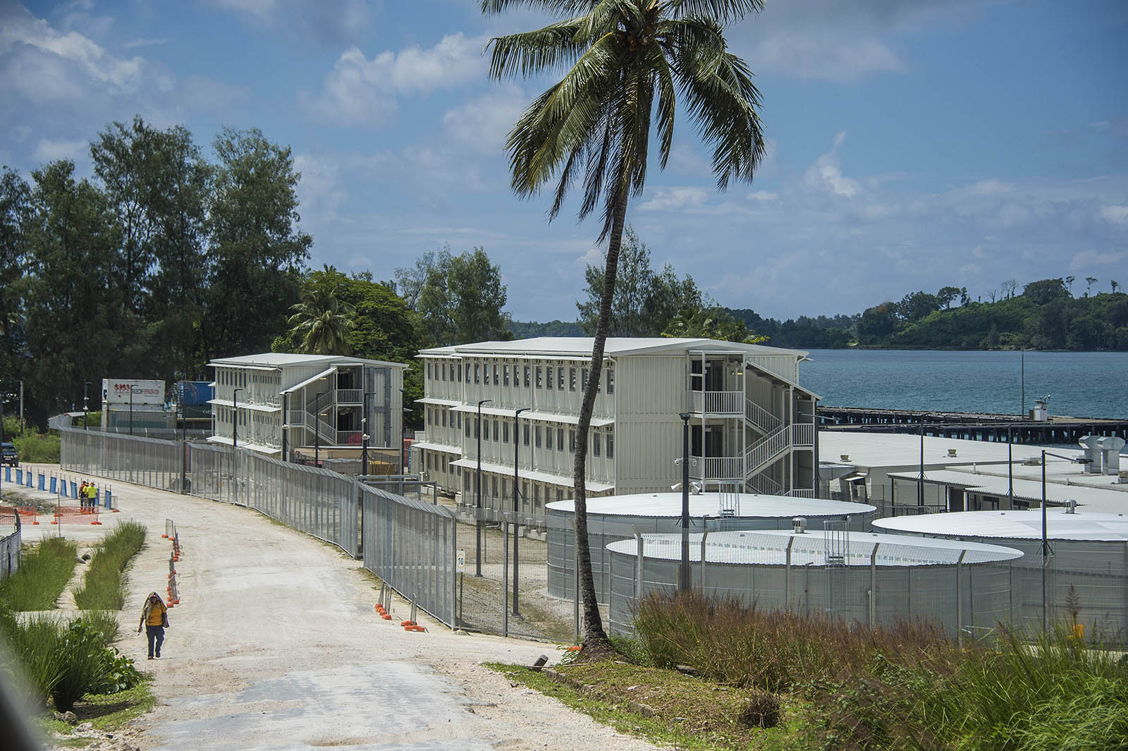 A section of the near billion dollar Australian Lombrum asylum seeker detention cemtre on Manus Island PNG. © Brian Cassey