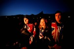 © SAM MOOY - 25.04.2012 - Members of the Australian contingent of ANZAC day watch the service from ANZAC Cove, Gallipoli, Turkey. Sam Mooy/The Australian Newspaper