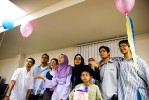 Huda's birthday/graduation party.
