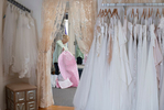 Charlene Gaudette Colon owner of Sposabella Bridal decided to repurpose her inventory of bridal gown bags when she realized they were made of the same material as surgical masks–a breathable cotton. She also figured out a way to sew a pattern that makes a set of 10 masks at once for increased efficiency. In just a couple of days, she has already cranked out almost 400 masks which have been donated to the Mashpee Police Department and The Pavilion Rehabilitation and Nursing Center