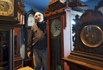 Joseph Tortorelli shows his collection of over 500 clocks at {quote}This Old Clock Shop{quote} on Friday, March 11, 2016. He said his fascination with clocks began when he was 8-years-old working the paper route. He would pass by secondhand stores and started collecting crank-up records and old clocks intrigued by the mechanical parts and sounds they made.  T&G Staff/Christine Hochkeppel