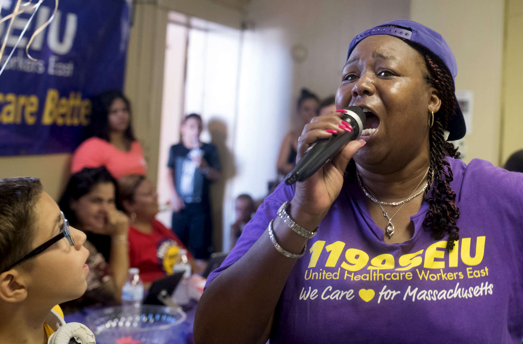 1199 SEIU Healthcare Workers Rising Victory Cookout in Springfield at Mount Calvary Baptist Church, Saturday, August 4, 2018.