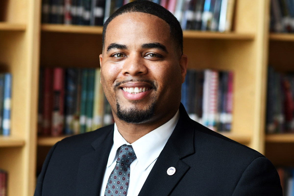 Southbridge High School Principal Andrae Townsel is taking on a leadership role with the Massachusetts School Administrators Association. © Christine Hochkeppel