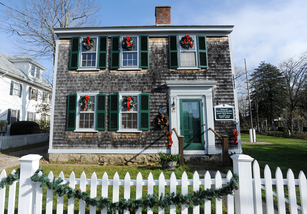 FALMOUTH -- 112812 -- The Conant House Museum at Falmouth Museums on the Green is decorated in a {quote}T'Was The Night Before Christmas{quote}  theme for the holidays. [For SUNDAY]  Cape Cod Times/Christine Hochkeppel