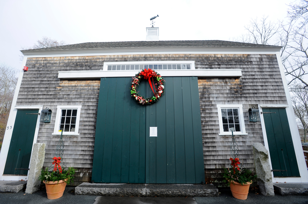 FALMOUTH -- 112812 -- The outside of the new Education Center at Falmouth Museums on the Green.[For SUNDAY] Cape Cod Times/Christine Hochkeppel