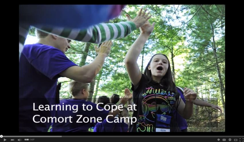 Comfort Zone Camp is a bereavement camp for children from ages 7 to 17 who have experienced the death of a loved one. This video offers a glimpse into camper activities and shows how the camraderie helps them process their grief.