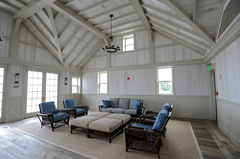 Harborview room at the Dreamland Film and Performing Arts Center on Nantucket.