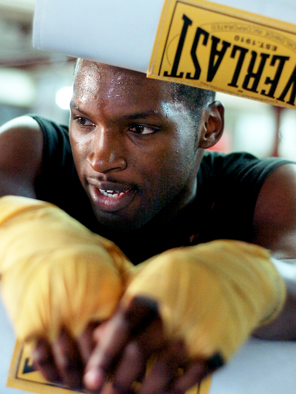 From April to December 2007, Maurice Cole, 23, of East Providence, R.I. had such an impressive record that it was difficult for his coach to find opponents for him to fight. Cole is a 2-time New England Golden Gloves heavyweight champion, 5-time Southern New England Golden Gloves heavyweight champion and in posession of two Rocky Marciano Tournament belts. He was also a competitor in the US Opens. His talent is certainly a story in itself but his unique personality is just as noteworthy. Click here to view the audio slideshowThis project was awarded third place in the {quote}multimedia{quote} category of the Boston Press Photographers Association 2007 Photo Contest.