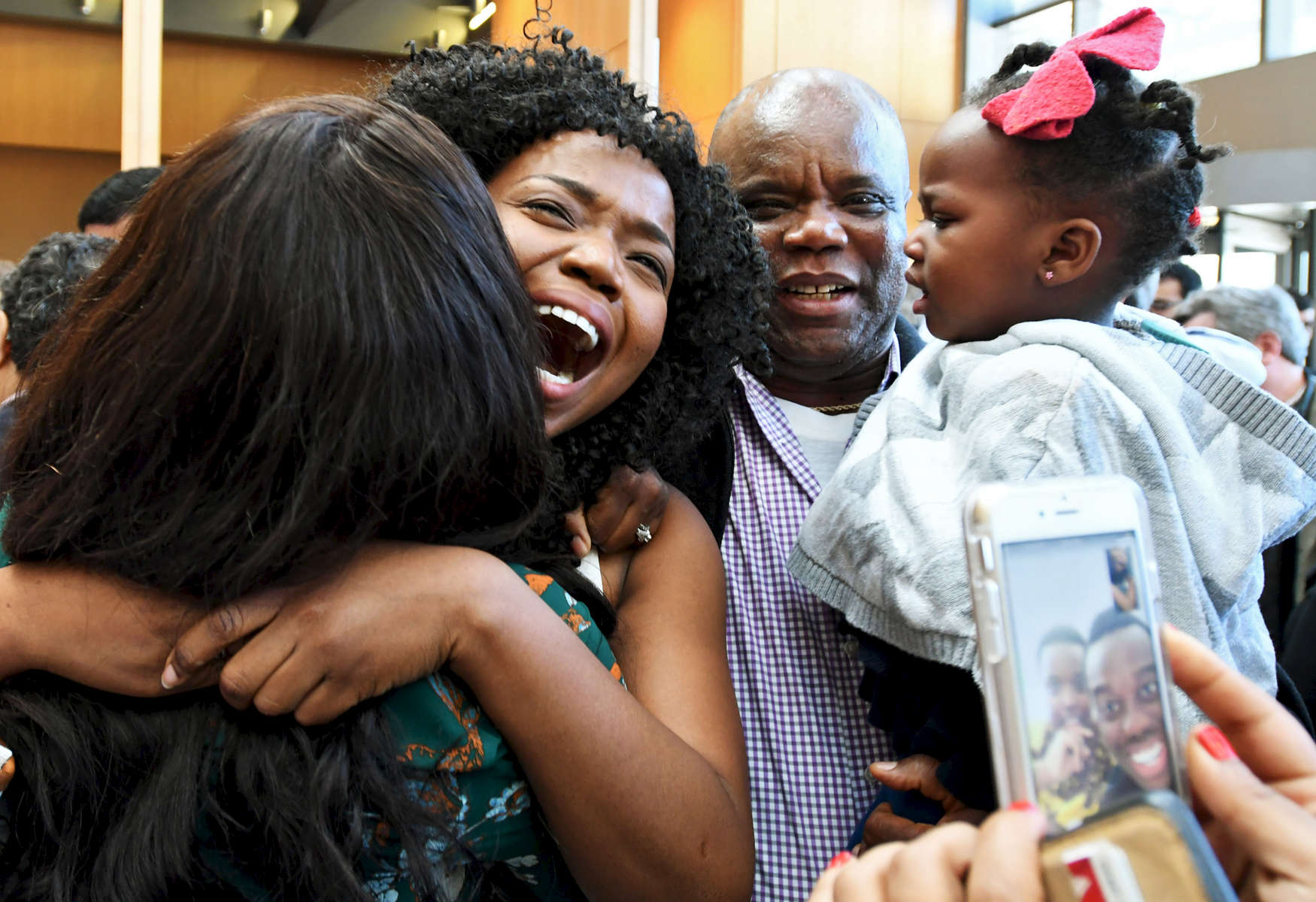 UMass Medical School student Noreen Okwara, 26, is ecstatic over discovering she has been matched to Brigham & Women's in Boston for her residency on Match Day on Friday, March 17, 2017.