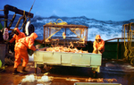 Fishing for opilio crab in the Bering Sea onboard the F/V Polar Lady. © Karen Ducey