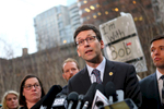 SEATTLE, WA - FEBRUARY 03: Washington state Attorney General Bob Ferguson speaks at a press conference outside U.S. District Court, Western Washington, on February 3, 2017 in Seattle, Washington. Ferguson filed a state lawsuit challenging key sections of President Trump's immigration Executive Order as illegal and unconstitutional. (Photo by Karen Ducey/Getty Images)