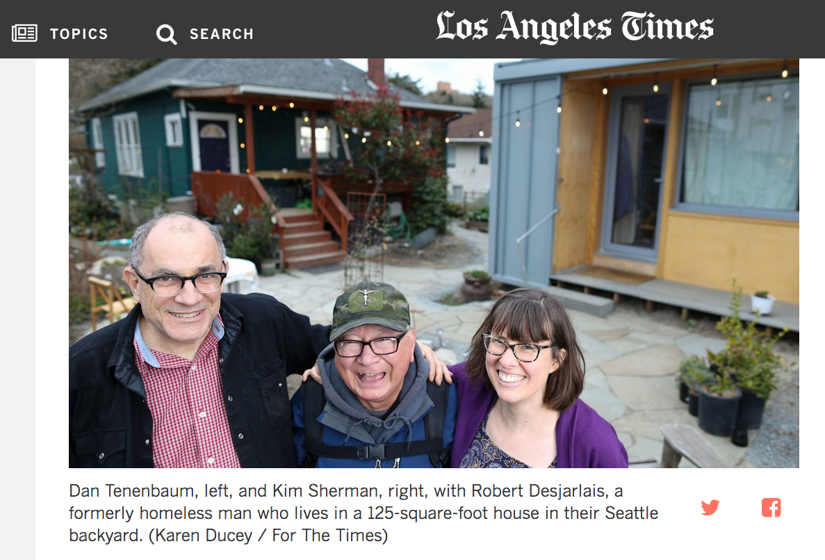 L.A. County wants to help build guest houses in backyards — for homeless people   Photos for The Los Angeles Times, April 11, 2018.